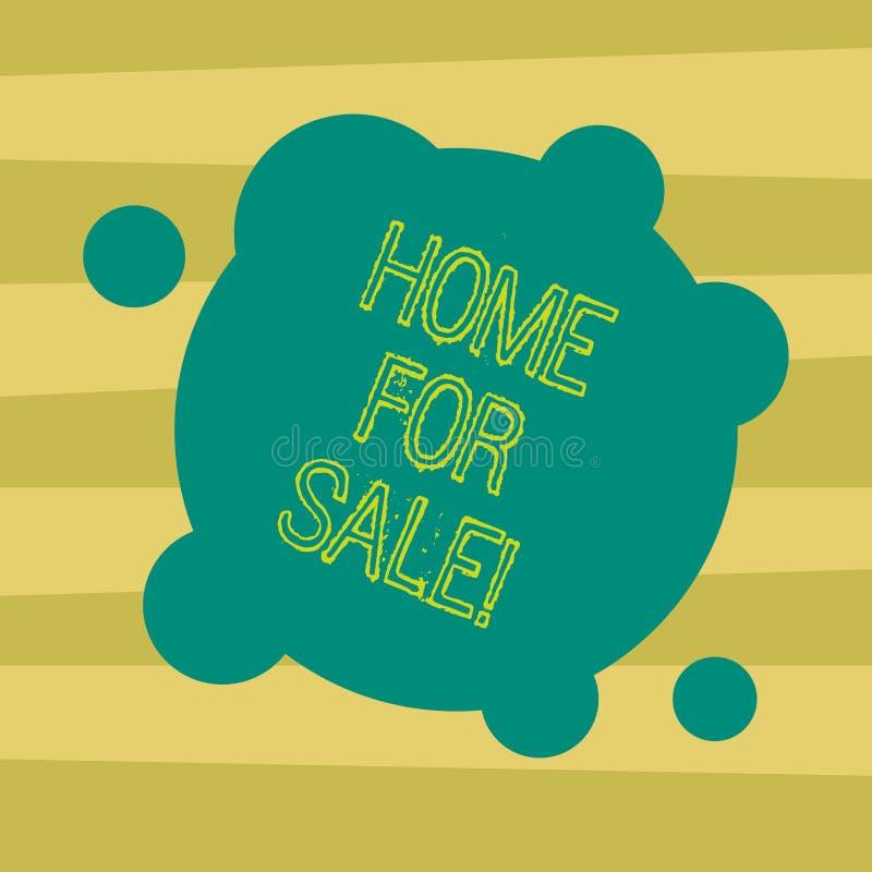 Tekstteken die Huis voor Verkoop tonen Het conceptuele beschikbare fotohuis om gekochte Onroerende goederen te zijn aanbiedend Sp royalty-vrije illustratie