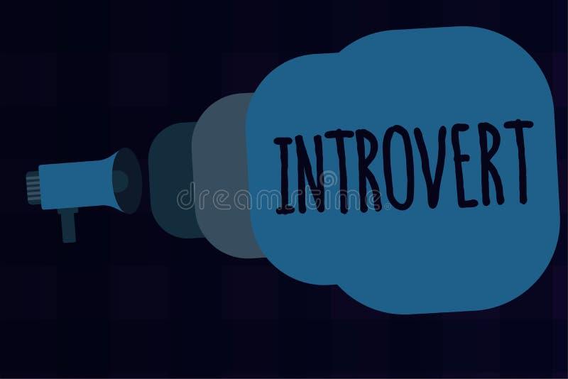 Tekstteken die Introvert tonen De conceptuele foto neigt te zijn het binnenkomende draaien of concentreerde meer interne gedachte vector illustratie
