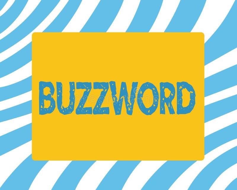 Tekstteken die Modewoord tonen De conceptuele gebruikte Populaire uitdrukking van het foto Modieuze woord algemeen zeer vaak royalty-vrije stock foto's