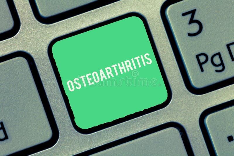 Tekstteken die Osteoartritis tonen Conceptuele fotodegeneratie van gezamenlijk kraakbeen en het onderliggende been stock fotografie