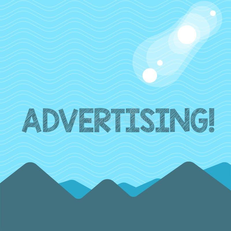 Tekstteken die Reclame tonen Het conceptuele de wereld van het fotobereik uit brandmerken met digitaal marketing optimaliseringsw vector illustratie