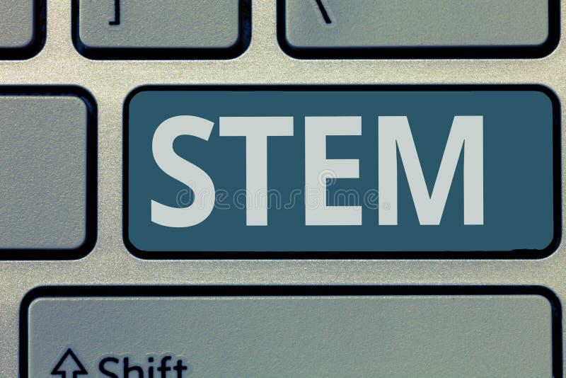 Tekstteken die Stam tonen Conceptuele de Wetenschappentechniek van het fotoleven in al aspecten Ononderbroken uitbreidende techno royalty-vrije stock foto's
