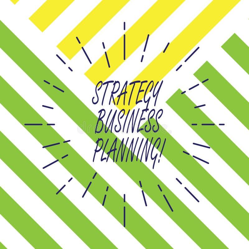 Tekstteken die Strategie Bedrijfs Planning tonen Conceptuele fotooverzichten is een organisatie s algemene richting verdunt Straa vector illustratie