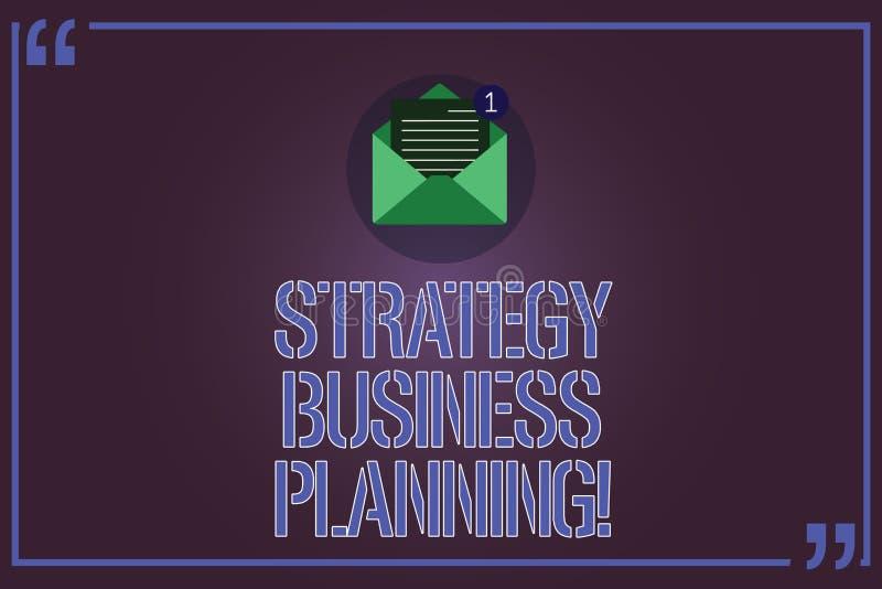 Tekstteken die Strategie Bedrijfs Planning tonen De conceptuele foto schetst een organisatie s algemene Open richting is vector illustratie