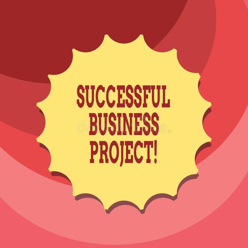 Tekstteken die Succesvol Zakelijk project tonen Conceptuele foto het Bereiken projectdoelstellingen binnen programma Lege Verbind stock illustratie
