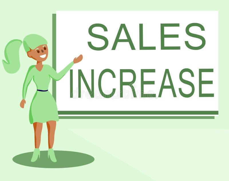 Tekstteken die Verkoopverhoging tonen De conceptuele foto kweekt uw zaken door manieren te vinden om verkoop te verhogen royalty-vrije stock foto's