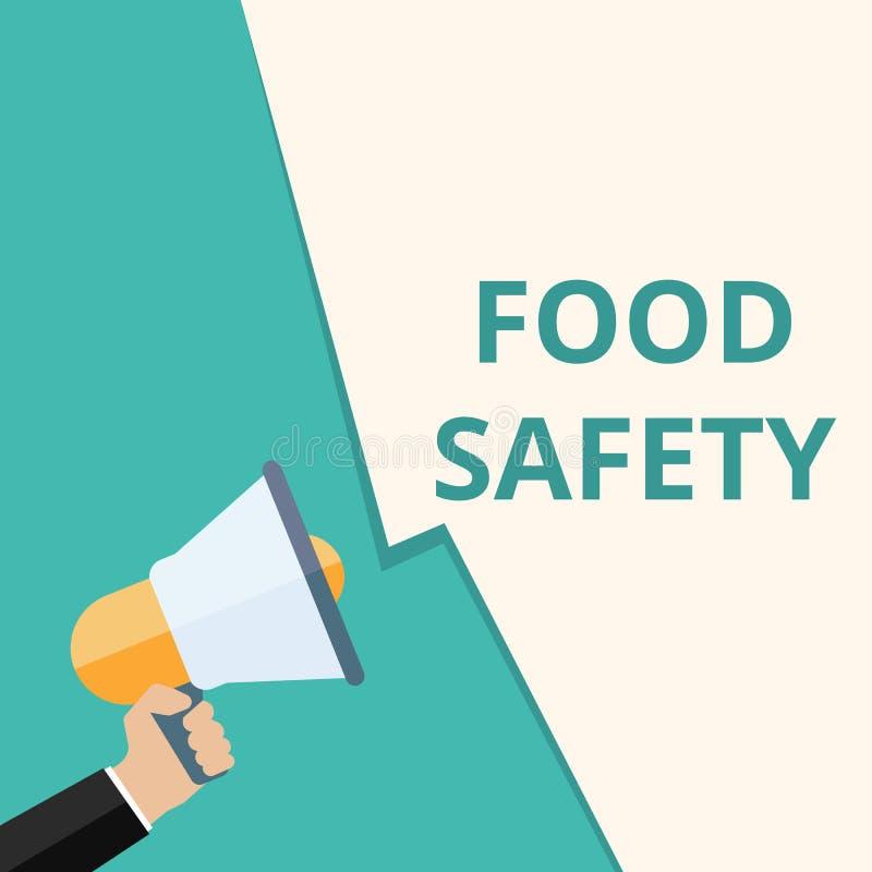 Tekstteken die Voedselveiligheid tonen vector illustratie