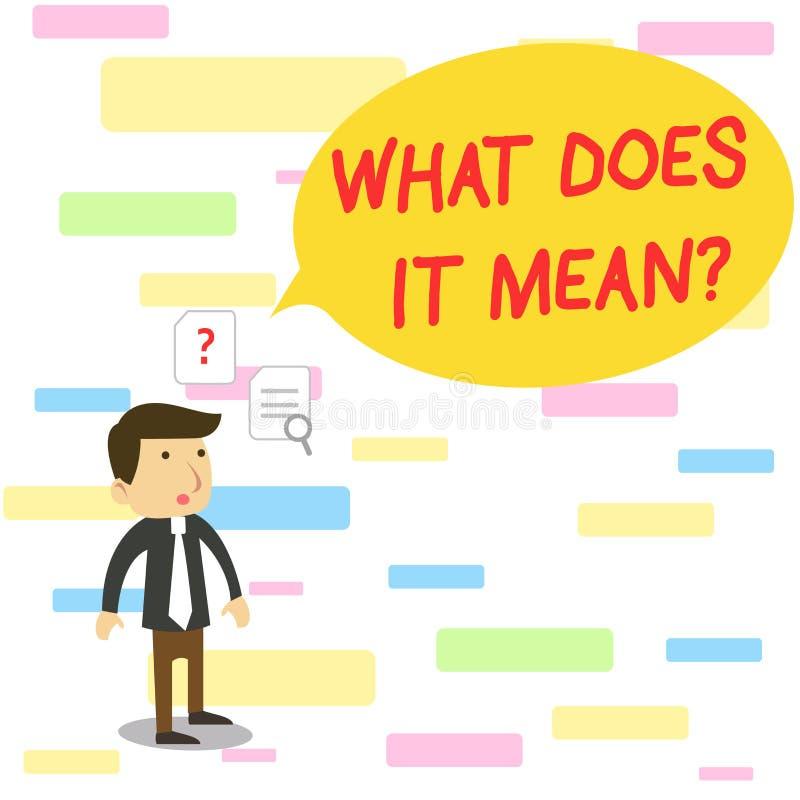 Tekstteken die wat tonen het Vraag betekent E vector illustratie