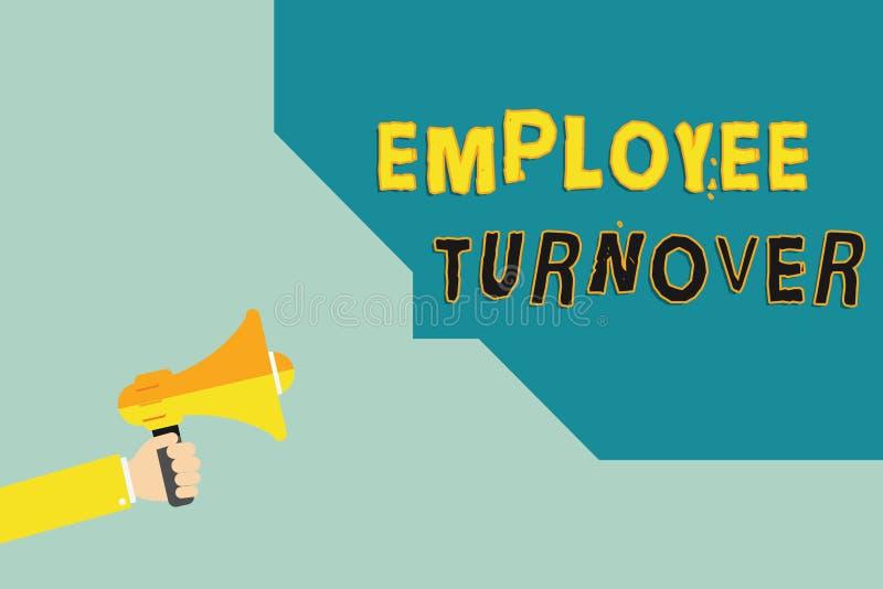 Tekstteken die Werknemersomzet tonen Conceptueel fotoaantal of percentage arbeiders die een organisatie verlaten royalty-vrije illustratie