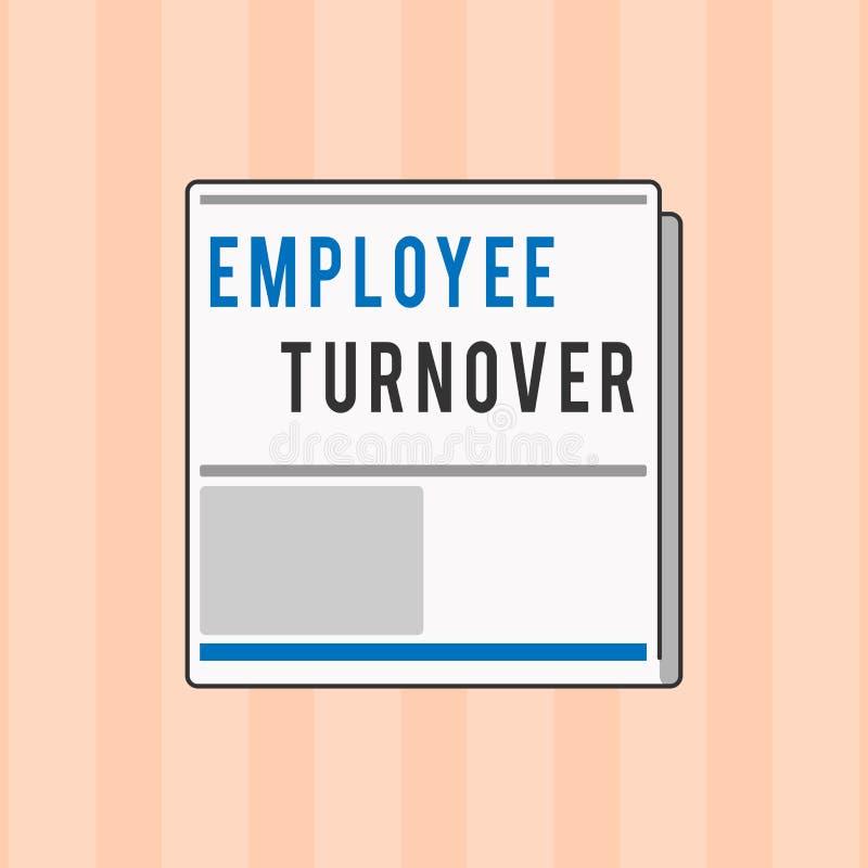 Tekstteken die Werknemersomzet tonen Conceptueel fotoaantal of percentage arbeiders die een organisatie verlaten stock illustratie