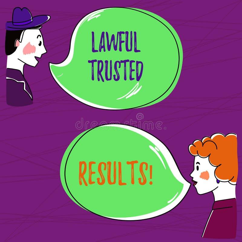 Tekstteken die Wettige Vertrouwde op Resultaten tonen Conceptuele foto het Sluiten overeenkomst veilig door wettelijke contracten vector illustratie