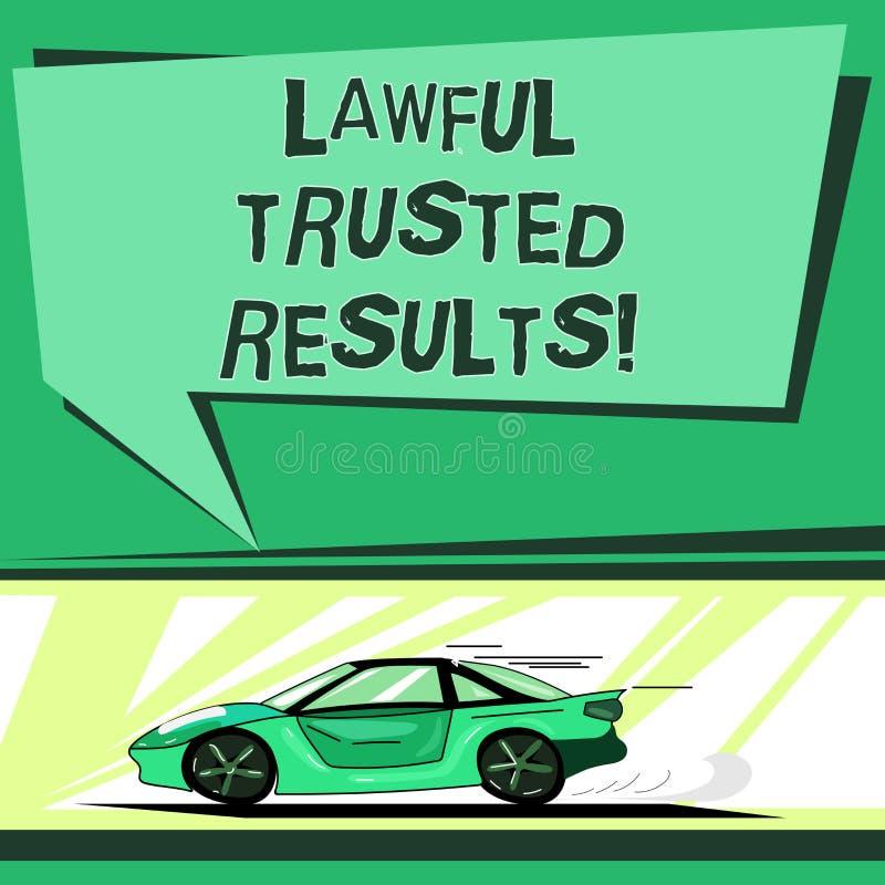 Tekstteken die Wettige Vertrouwde op Resultaten tonen Conceptuele foto het Sluiten overeenkomst veilig door wettelijke contracten royalty-vrije illustratie