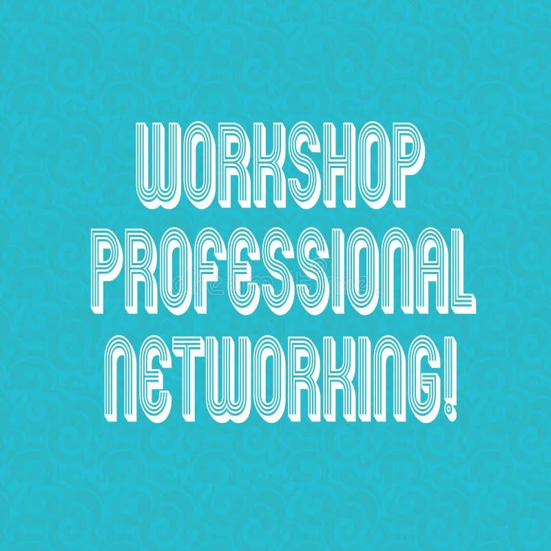 Tekstteken die Workshop Professioneel Voorzien van een netwerk tonen Conceptuele fotoactiviteiten om het verbindingen Halftone Wa vector illustratie