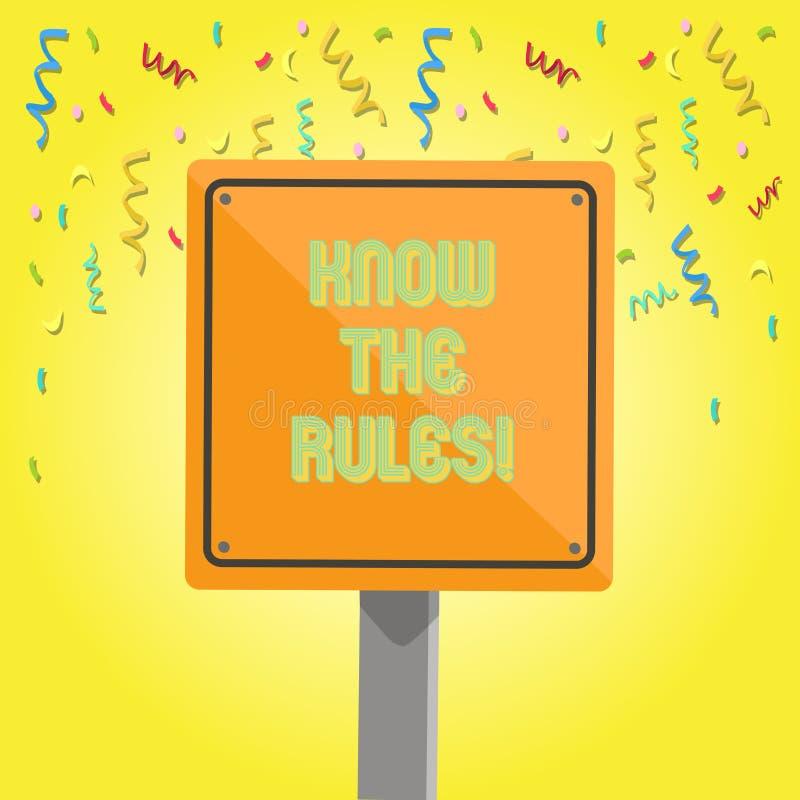 Tekstteken het tonen kent de Regels De conceptuele foto begrijpt termijnen en de voorwaarden krijgen juridisch advies van 3D advo royalty-vrije illustratie