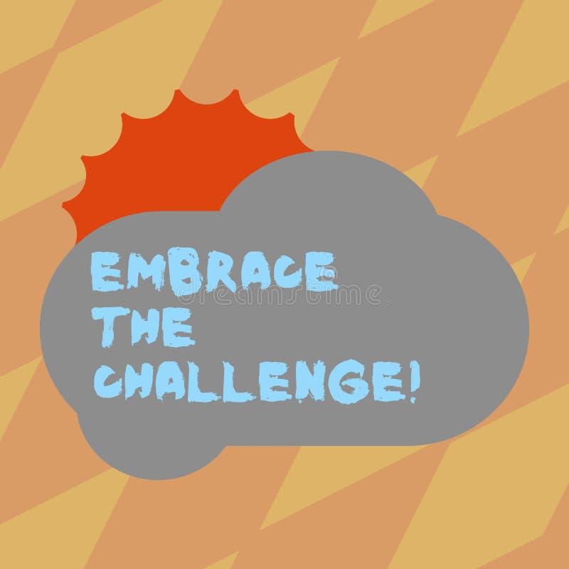 Tekstteken het tonen omhelst de Uitdaging Conceptueel fotogezicht om het even welke proeven dat met waardigheid en moedzon het Ve vector illustratie