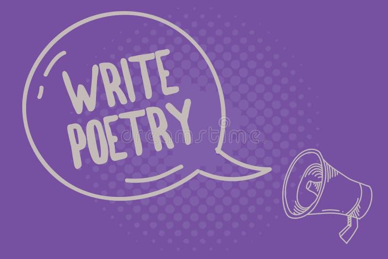 Tekstteken het tonen schrijft Poëzie Conceptuele foto het Schrijven literatuur roanalysistic melancholische ideeën met rijm stock illustratie