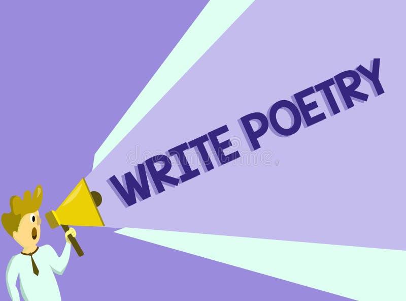 Tekstteken het tonen schrijft Poëzie Conceptuele foto het Schrijven literatuur roanalysistic melancholische ideeën met rijm vector illustratie