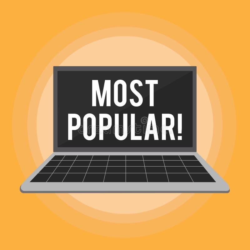 Tekstteken tonen het Populairst Conceptuele de Best-seller Favoriete Product of Kunstenaar eerste van de foto Hoogste Classificat vector illustratie