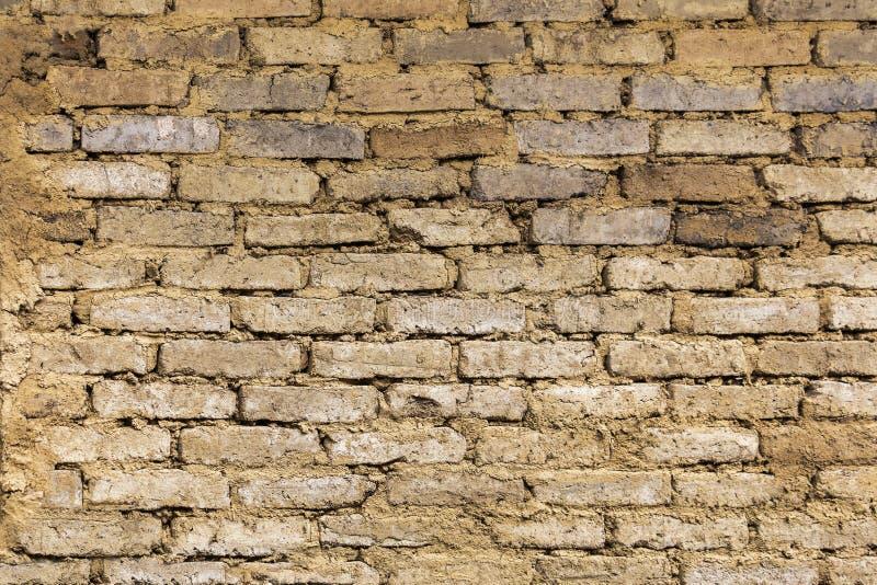 Tekstur cegieł ziemi ściana Ziemski dom jest materiałem dla buil obrazy royalty free