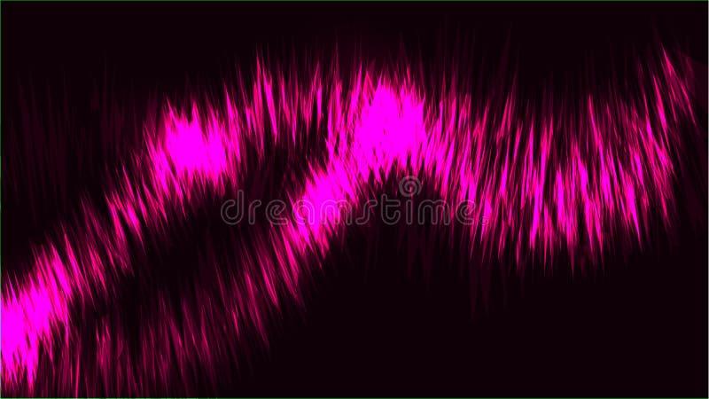 Tekstur linii fala abstrakcjonistyczni purpurowi pozaziemscy magiczni rozjarzeni jaskrawi olśniewający neonowi paski nici energia ilustracji