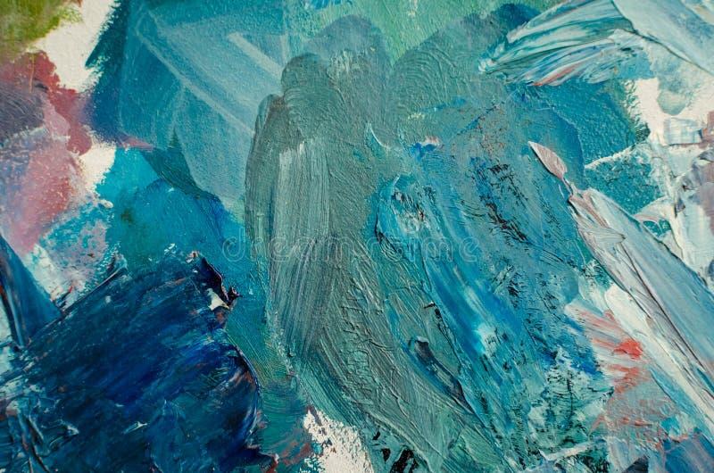 tekstur mieszane nafciane farby w różnych kolorach ilustracja wektor
