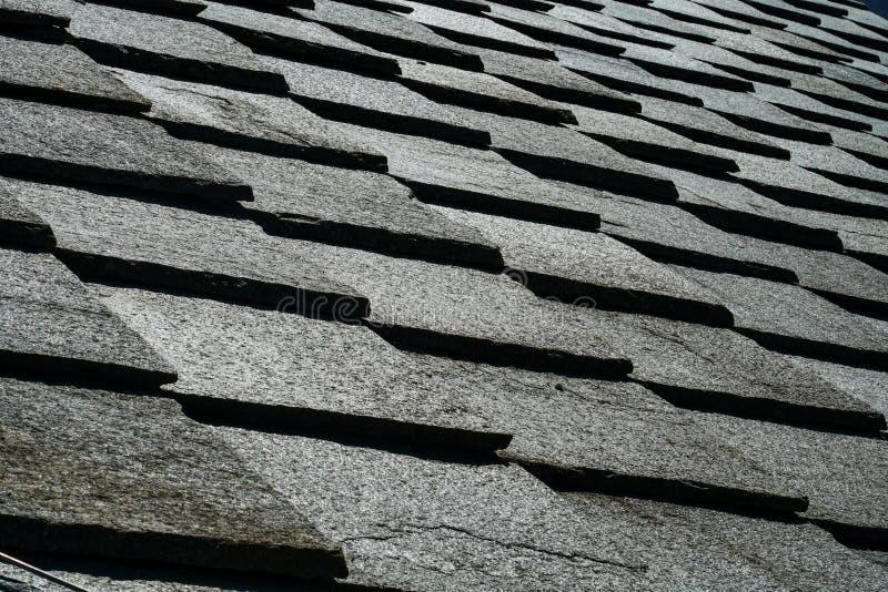 Tekstura łupkowy dach zdjęcia royalty free