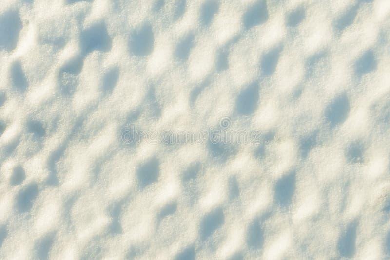 Tekstura śnieg w komórkach Tło, siatka zakrywająca z gęstą warstwą śnieg obraz royalty free