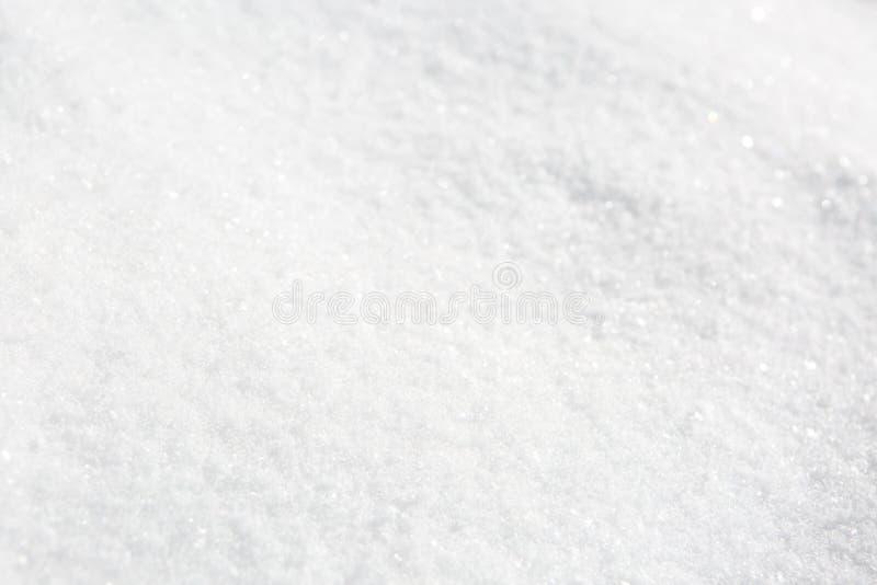 Tekstura świeżego naturalnego śniegu Płytki DOF obrazy royalty free