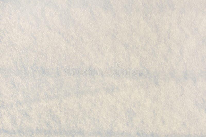Tekstura świeży śnieg miejsce tekst Opróżnia lekkiego tło zdjęcie stock