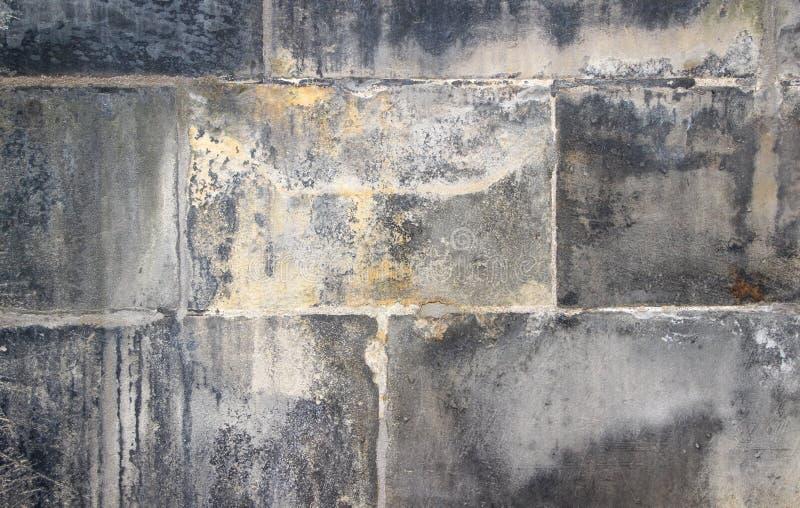 Tekstura aÑ 'stara uszkadzająca kamienna ściana fotografia royalty free