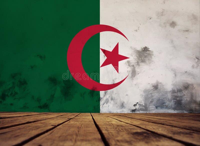 Tekstura Algieria flaga zdjęcia stock