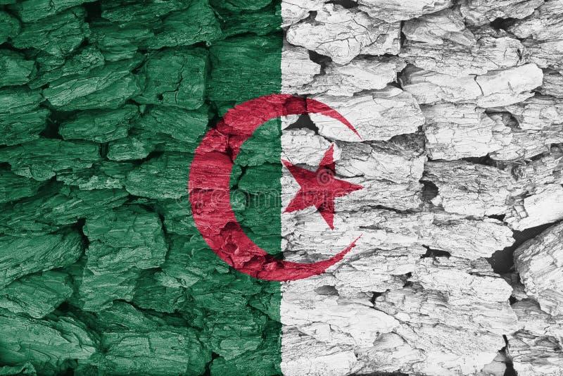 Tekstura Algieria flaga royalty ilustracja