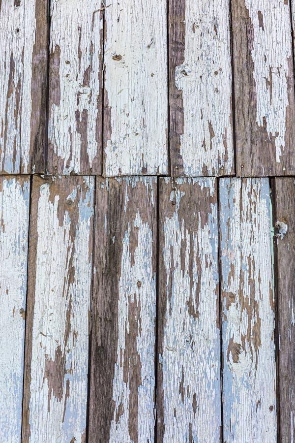 Tekstura błękitna stara deska z obieranie farbą naturalny wzoru tło zdjęcie royalty free