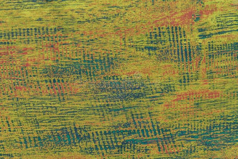 Tekstura błękitny stary podławy drewniany tło i zieleń zdjęcia royalty free