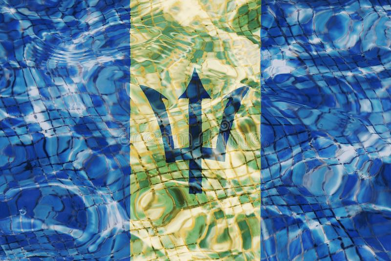 Tekstura Barbados flaga zdjęcia stock