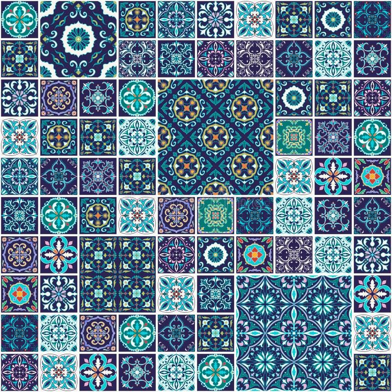 tekstura bezszwowy wektor Piękny mega patchworku wzór dla projekta i moda z dekoracyjnymi elementami ilustracja wektor