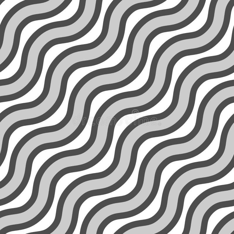 tekstura bezszwowy wektor Wielostrzałowy wzór faliste linie w różnych kolorach royalty ilustracja