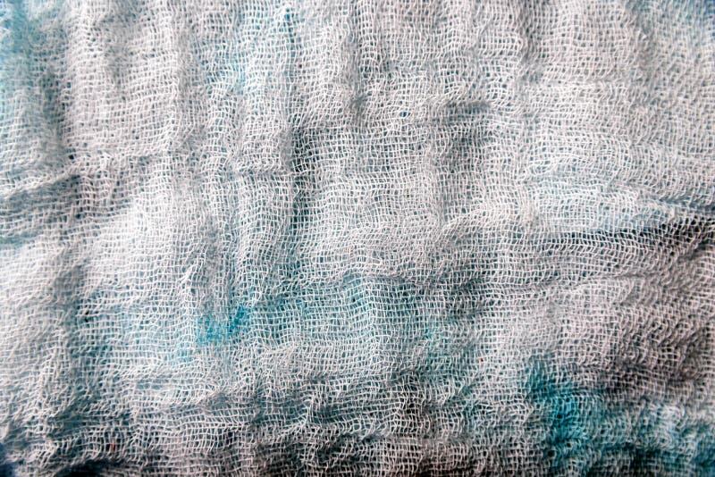 Tekstura biały gazy cheesecloth materiał fotografia royalty free