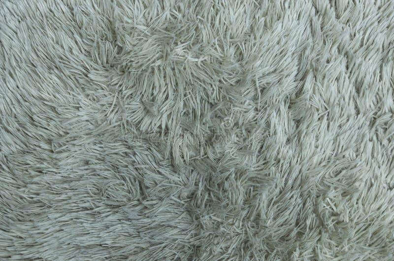 Tekstura biały syntetyczny futerkowy Wysoki Loft zdjęcie stock