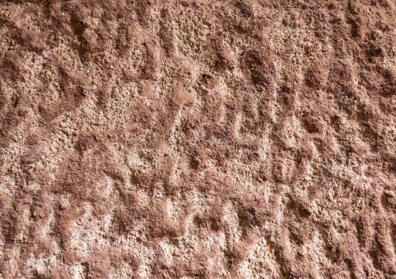 Tekstura brązu monasteru stara ściana z pęknięciami i scuffs fotografia stock