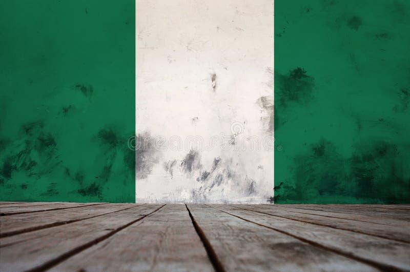 Tekstura chorągwiany Nigeria zdjęcia stock