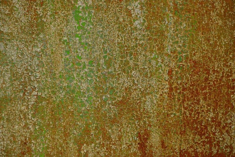 Tekstura czerep brudna barwiona ośniedziała żelazo ściana obraz royalty free