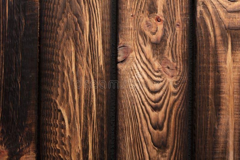 Tekstura deski ciemny stary brown drewno obraz royalty free