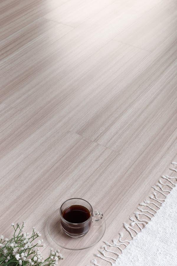 Tekstura drewniana podłoga z pustą przestrzenią obrazy royalty free