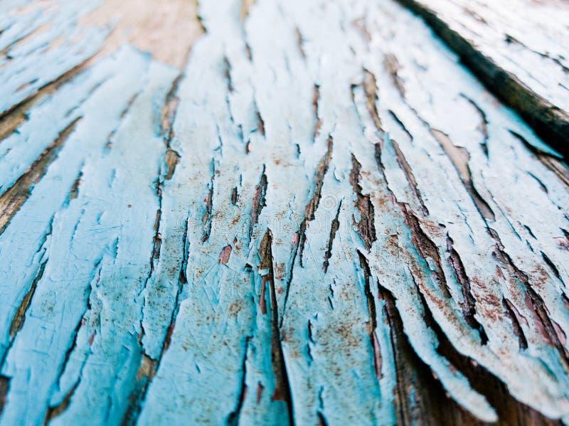 Tekstura drewno z starym koloru błękita tłem zdjęcia royalty free