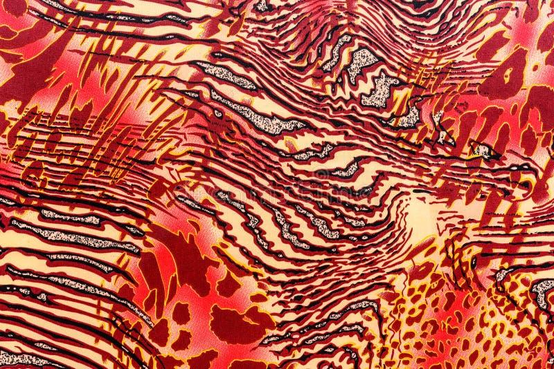 Tekstura druk tkanina paskował lamparta i zebry obrazy royalty free
