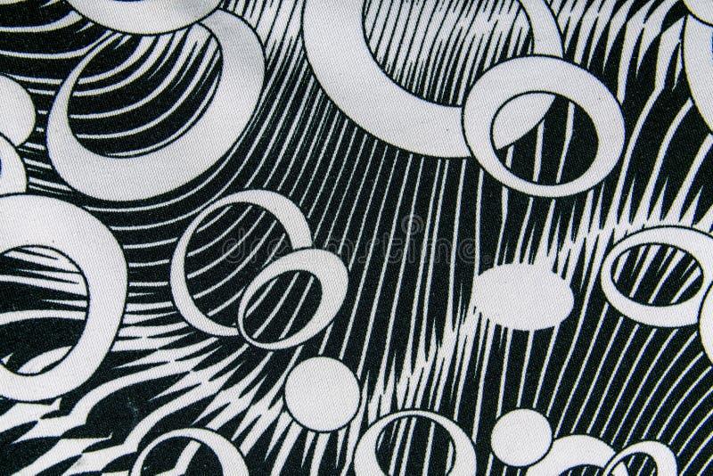 Tekstura druk tkanina paskował okrąg i owal dla tła obraz royalty free