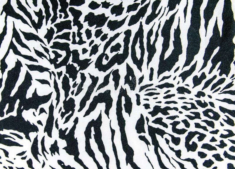 Tekstura druk tkanina paskował zebry i lamparta dla tła zdjęcie royalty free