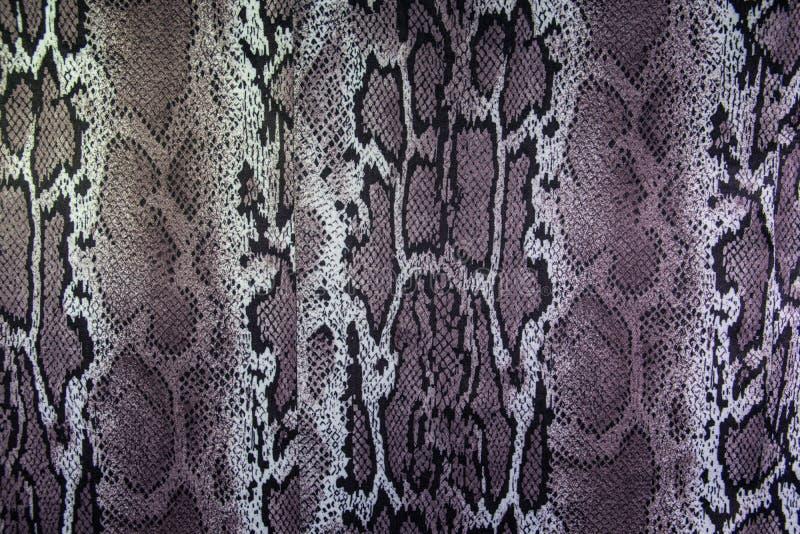 Tekstura druk tkaniny lampasów wąż obrazy stock
