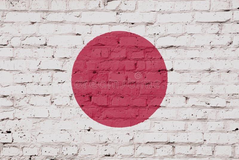 Tekstura Japonia flaga obraz royalty free